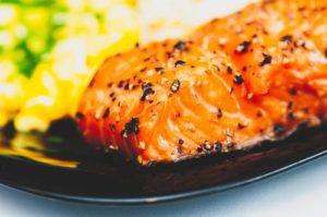 pavé de saumon au miel